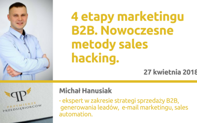 27.04.2018 – 4 etapy marketingu B2B.